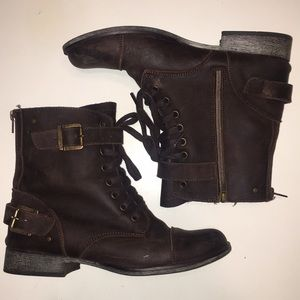 Dolce Vita - Brown Leather Sargeant Combat Boot -9